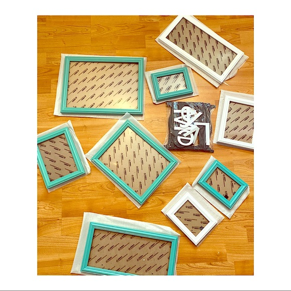 Other - Turquoise Photo Frame Gallery Collage Set